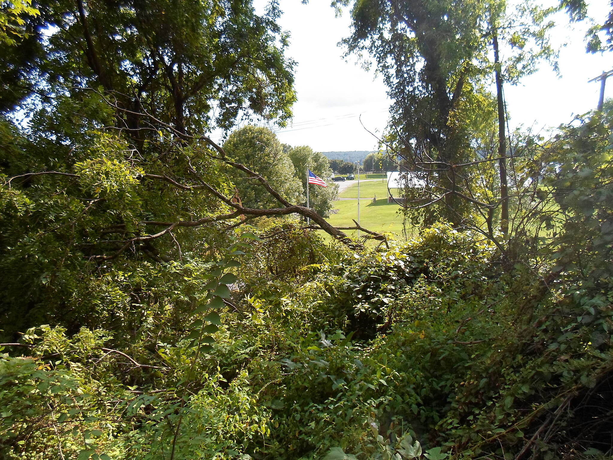MA & PA Heritage Trail Ma & Pa Heritage Trail Looking through the trees toward the Harford County Equine Center and fairgrounds.