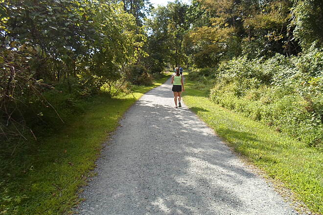 MA & PA Heritage Trail Ma & Pa Heritage Trail Trail users enjoying a warm, late-summer day near the Harford County Equine Center. Taken Aug. 2014.
