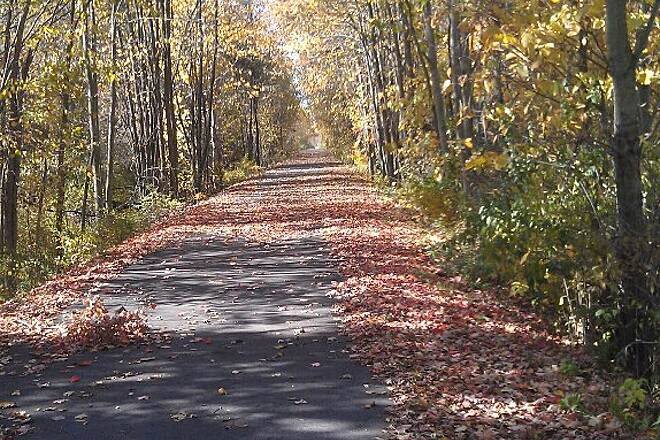 Macomb Orchard Trail Many The Miles The Macomb Orchard Trail, where I spend almost every day on my bike. Taken fall of 2012