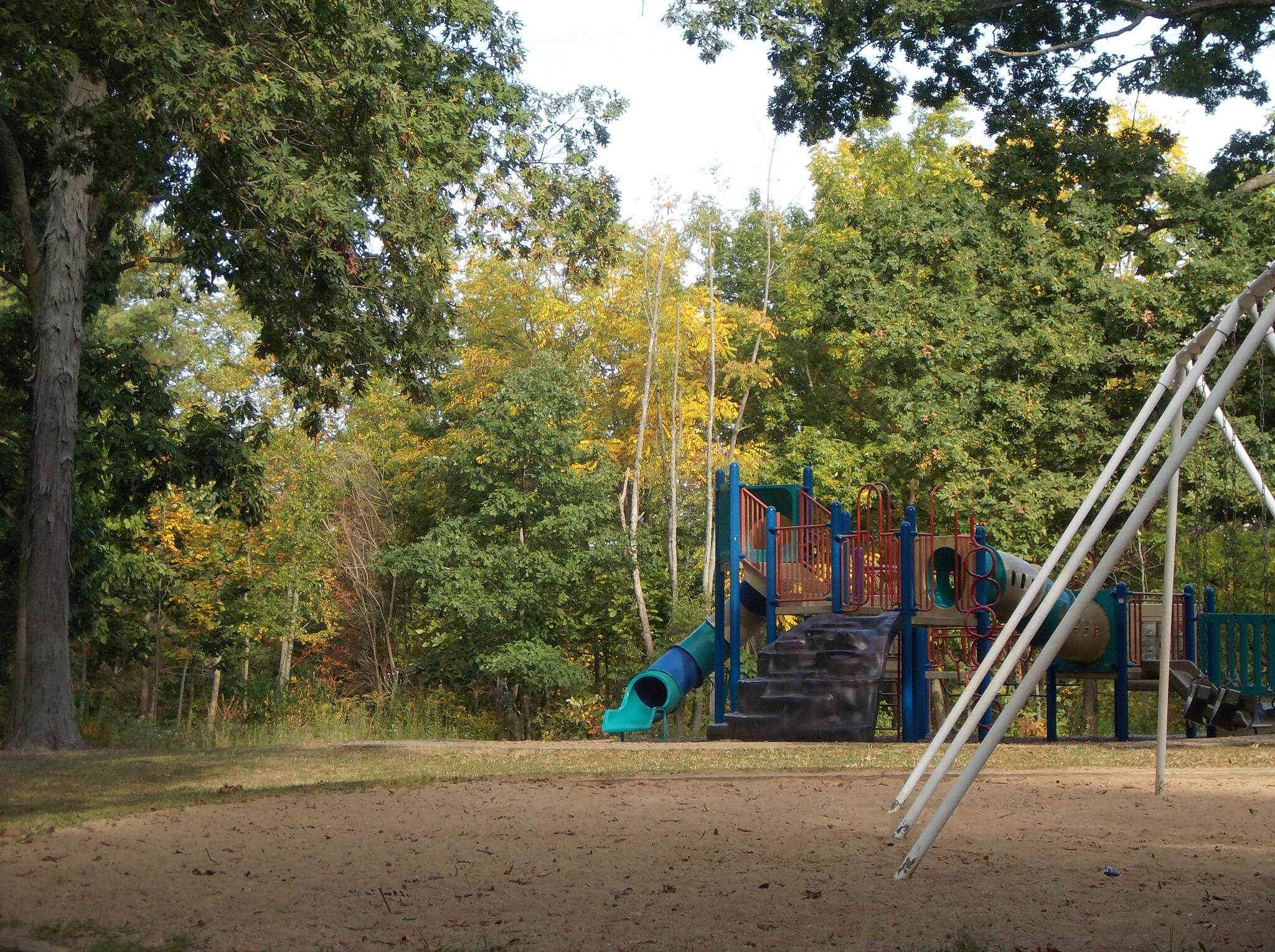 Mahomet Village Bike Trail Trailside Playground In the Lake of the Woods Forest Preserve