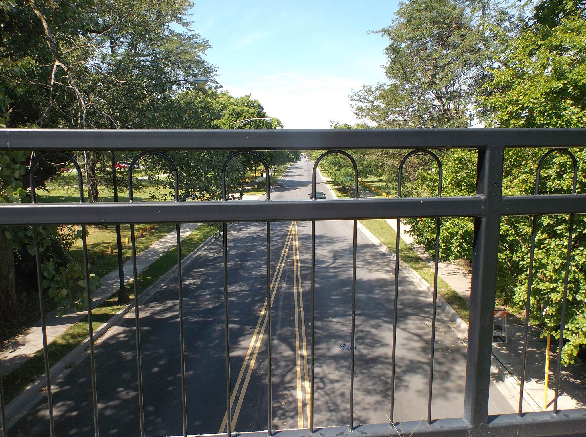 Major Taylor Trail From 83rd Street Bridge Elevated rail section at Dan Ryan Woods.