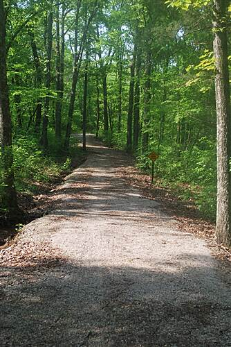 Mammoth Cave Railroad Bike & Hike Trail Trail North of Diamond Cave