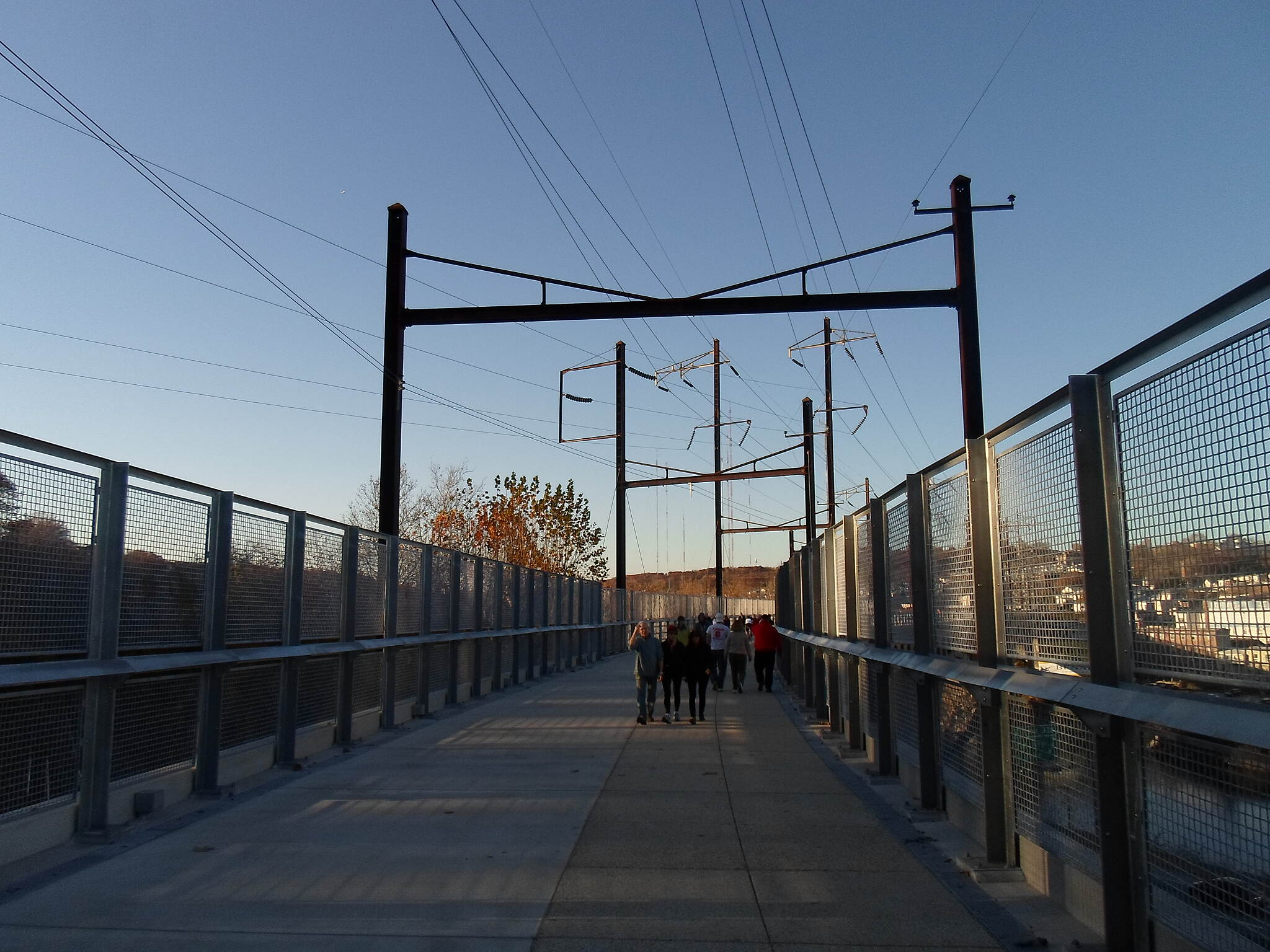Manayunk Bridge Trail Manayunk Bridge Trail Passing under one of the old catenary supports that are still above the bridge. Taken Nov. 2015.