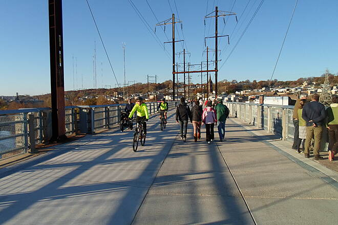Manayunk Bridge Trail Manayunk Bridge Trail The bridge provides panoramic views of northwest Philly. Taken Nov. 2015.