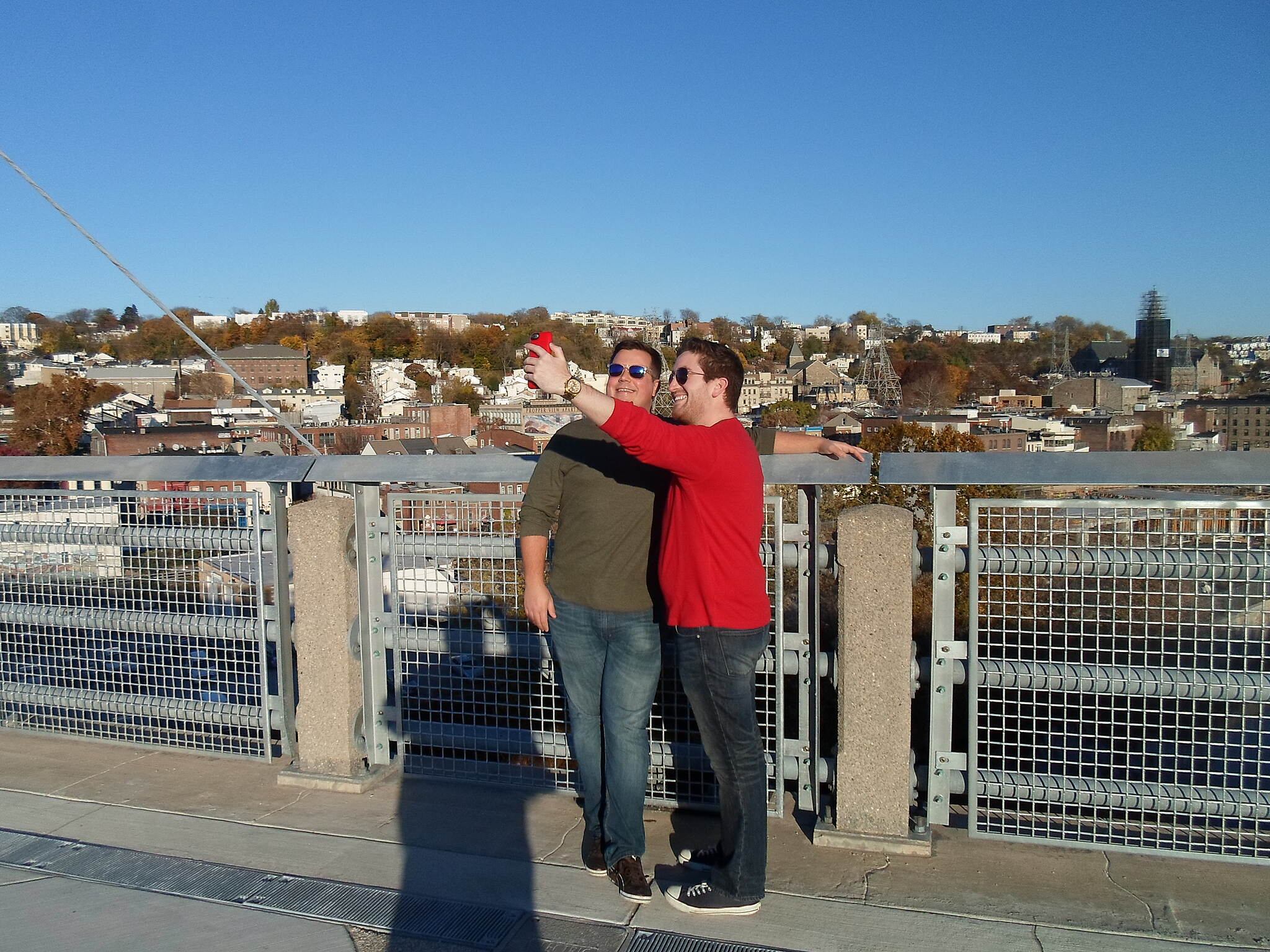 Manayunk Bridge Trail Manayunk Bridge Trail Taking a 'double selfie.'