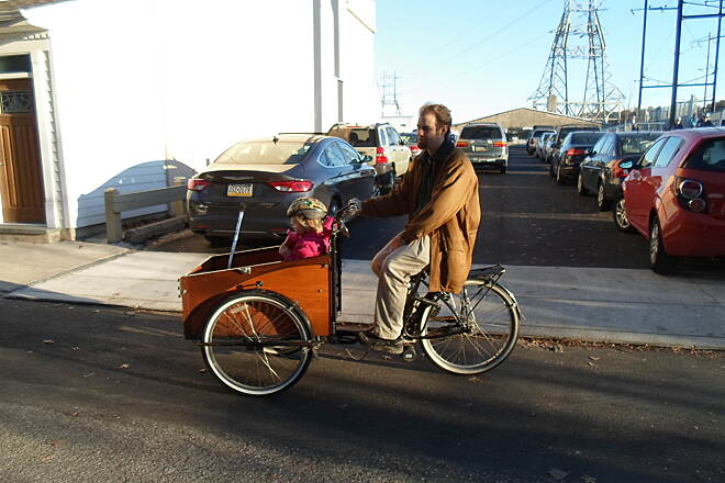 Manayunk Bridge Trail Manayunk Bridge Trail This father and daughter were riding a rickshaw near the north end of the trestle in Manayunk. Taken Nov. 2015.