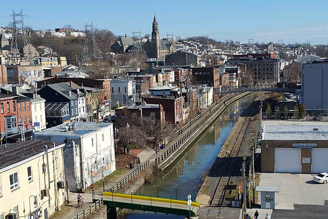 Manayunk Bridge Trail A Rare Clear Day In The Winter From The Manayunk Bridge I just had to go up on the bridge that day. It was very satisfying.