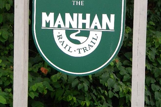 Manhan Rail Trail Trail Head Sign Easthampton,  Mass