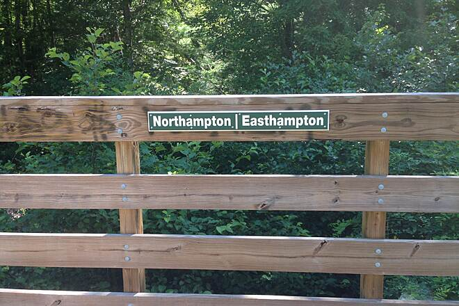 Manhan Rail Trail Easthampton-Northampton border