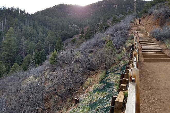 Manitou Incline View from the trail Photo by Laura Stark