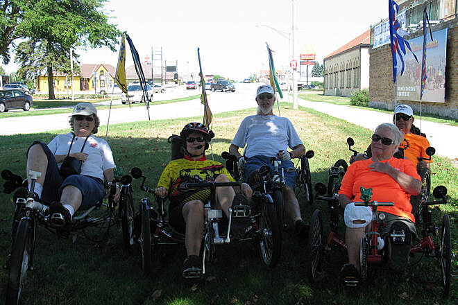 Mariners Trail North end of the Mariners trai Recumbent trike riders at Two rivers