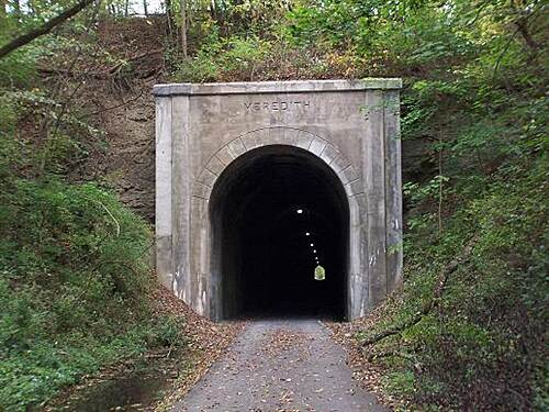 Marion County Trail (MCTrail)  The lighted tunnel.