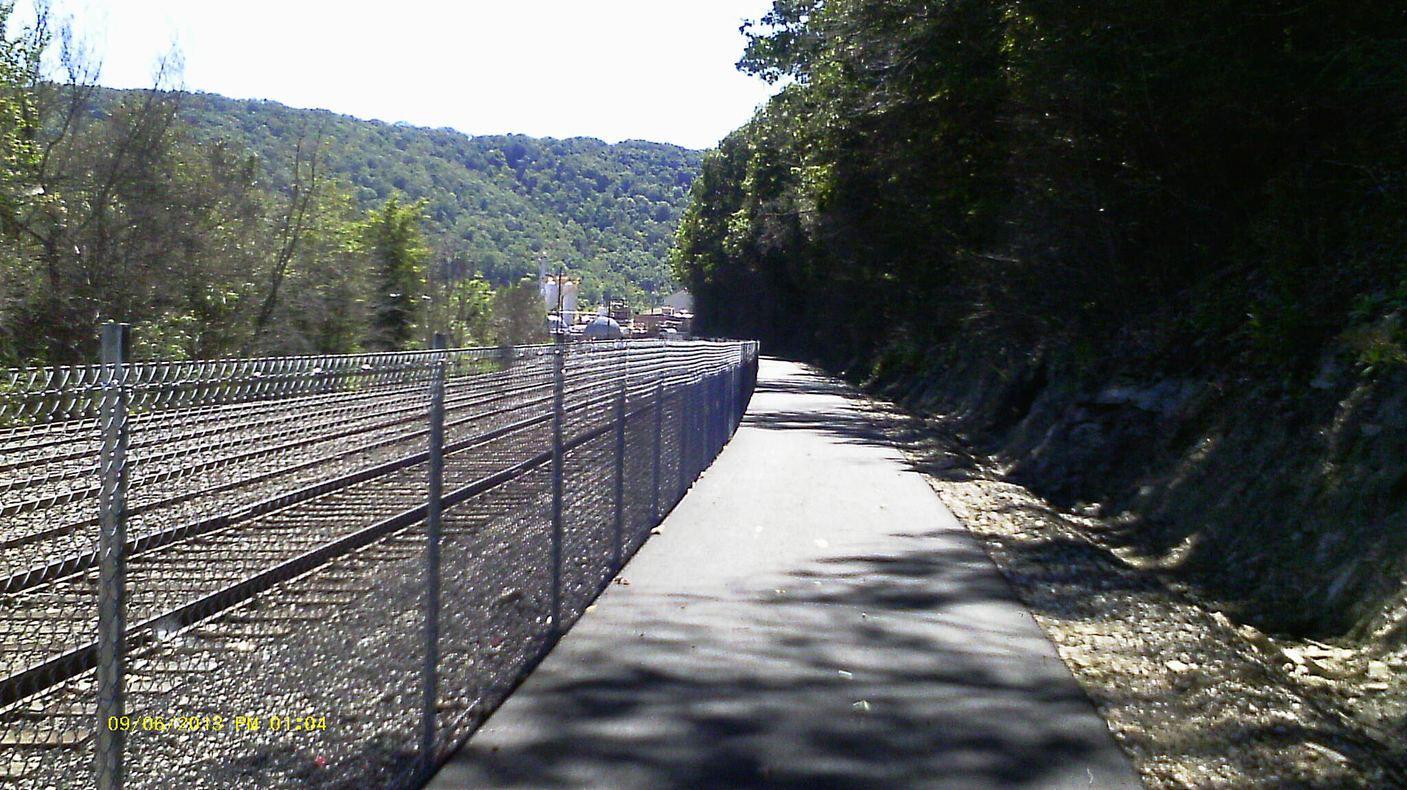 McClintock Trail Nice Trail surface  The trail was very nice. even though they are putting the finishing touches on the bridge and the ribbon cutting is set for the 17th. I still got in a nice smooth fast ride