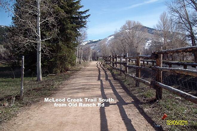 McLeod Creek Trail McLeod Creek Trail South from Old Ranch Road