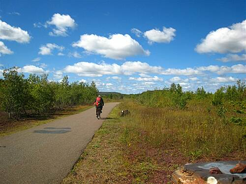 Mesabi Trail Chisholm to Hibbing, early September Topping the big hill