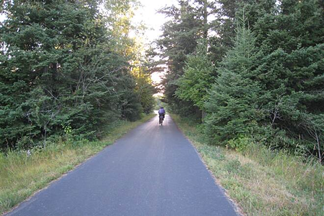 Mesabi Trail Virginia to Mountain Iron, early September This segment is wooded all the way