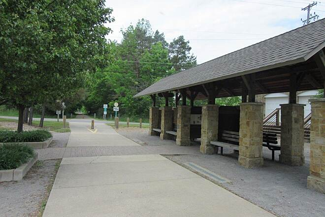 MetroParks Bikeway Kirk Road Kirk Road rest area on the trail.  Picnic area, parking, restrooms and water