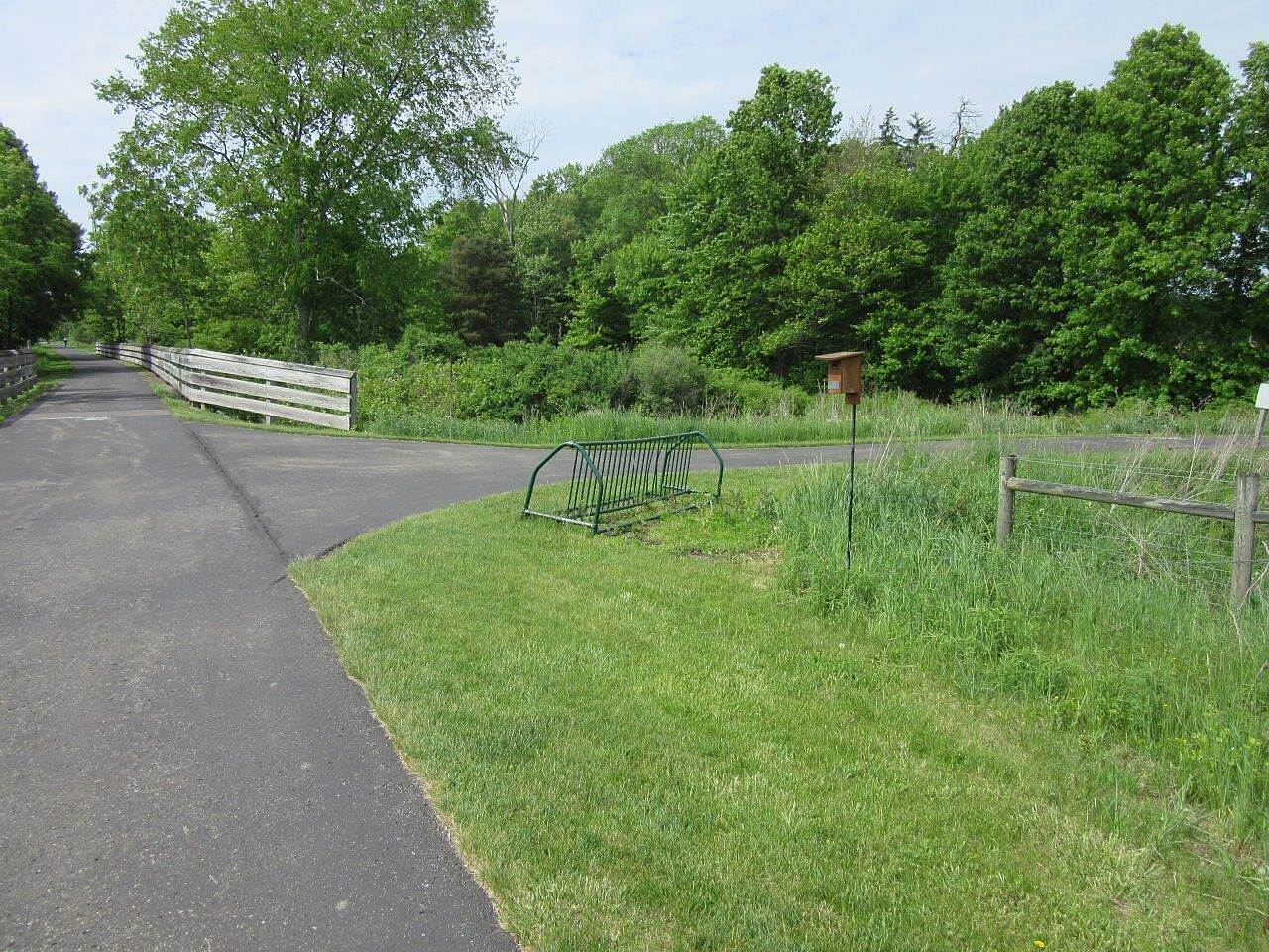 MetroParks Bikeway Trail Along the trail near the Canfield Fairgrounds