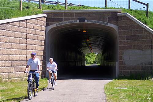 MetroParks Bikeway Tunnel Under Route 80 Near North End of Trail Tunnel on the Mill Creek Bikeway