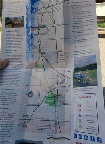 MetroParks Bikeway Trail Map Make sure to pick up a map!