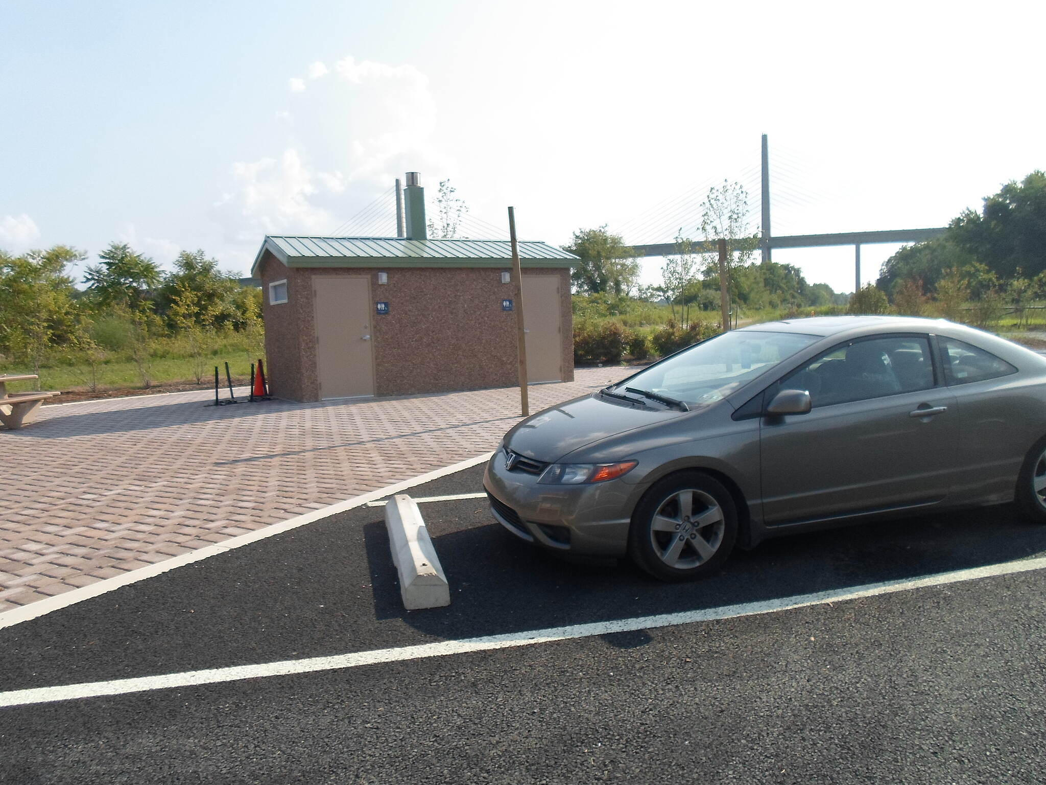 Michael Castle Trail Michael Castle Trail My car, parked at the St. Georges trailhead. Public restrooms are in the background. Taken August 2014.