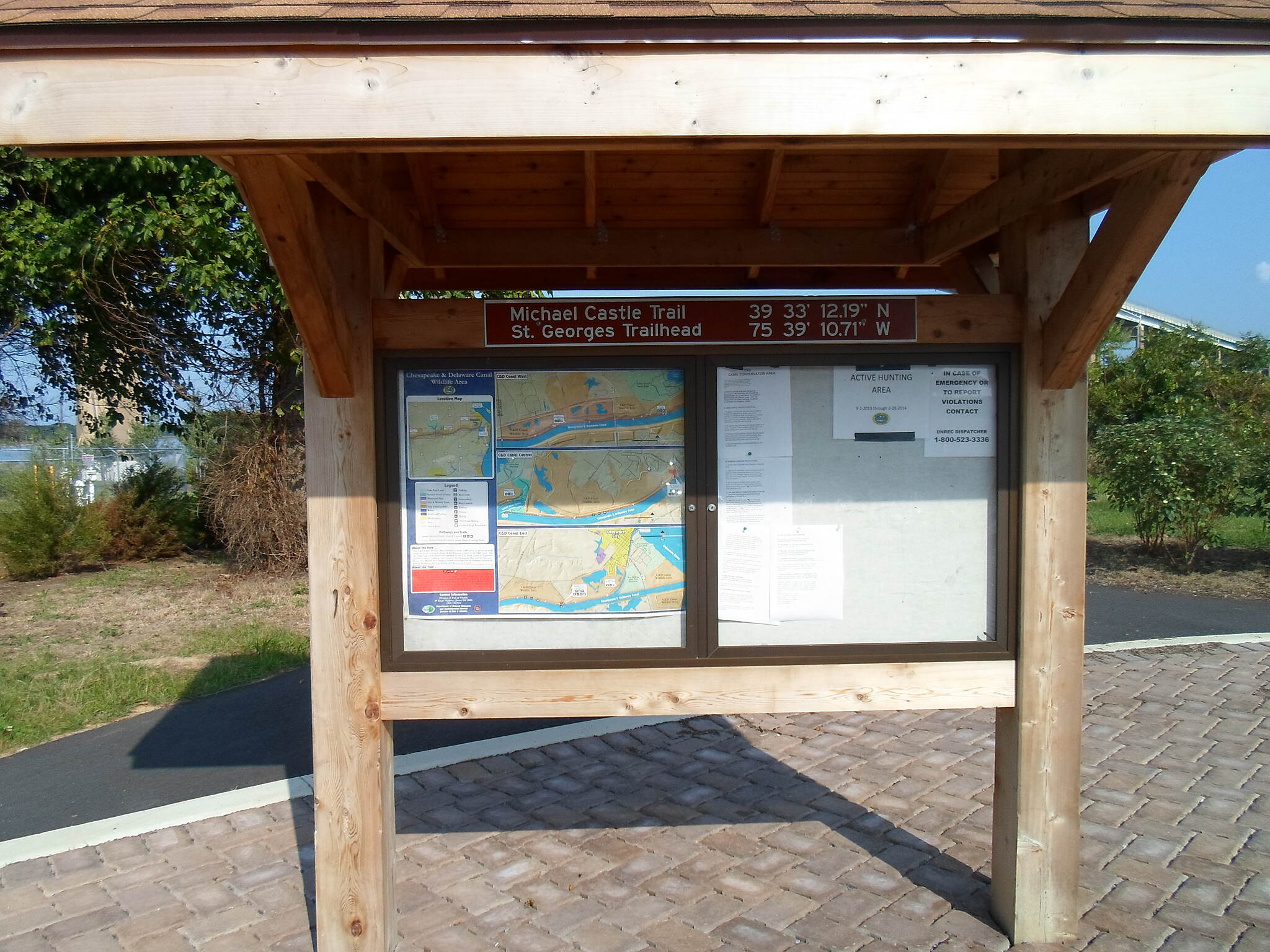 Michael Castle Trail Michael Castle Trail Kiosk showing a map of existing and future segments of the trail, as well as the surrounding wildlife preservation area. Taken August 2014 at the St. Georges trailhead.