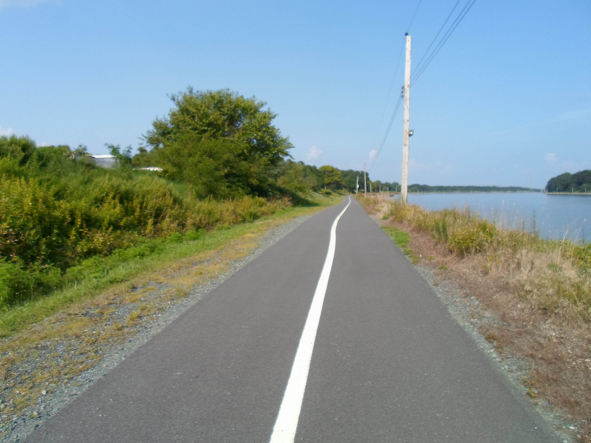 Michael Castle Trail Michael Castle Trail Looking east toward Delaware City on a warm, summer day in August 2014.