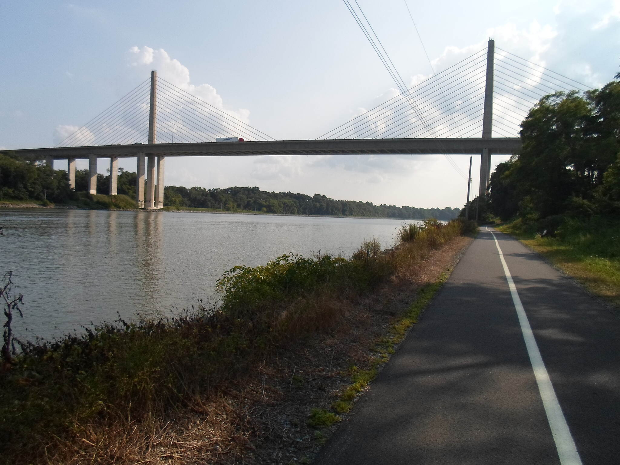 Michael Castle Trail Michael Castle Trail The Route 1 bridge, seen against a late summer sky. Taken August 2014.