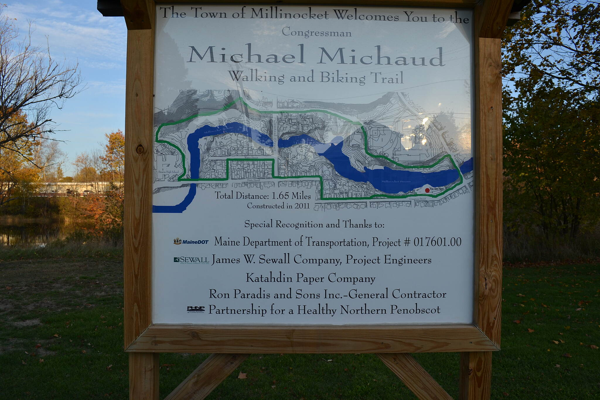 Michael Michaud Walking and Biking Trail Trail map