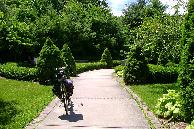 Middlebury Greenway Landscaped rest area