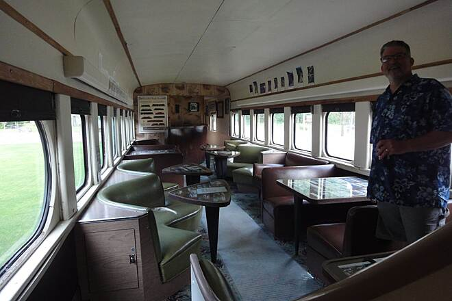 Milwaukee Road Rail-Trail (Pearson to Calder) Inside of Avery passenger car in museum