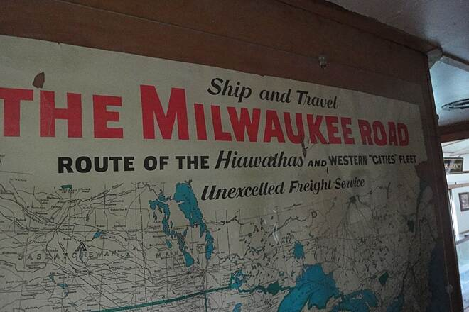 Milwaukee Road Rail-Trail (Pearson to Calder) Map of the old milwaukee routes at the museum