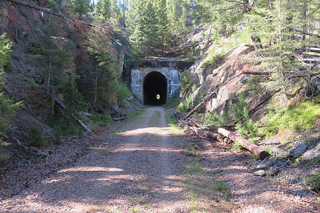 Milwaukee Road Rail-Trail (Thompson Park) Second Tunnel Longer, recommend headlight