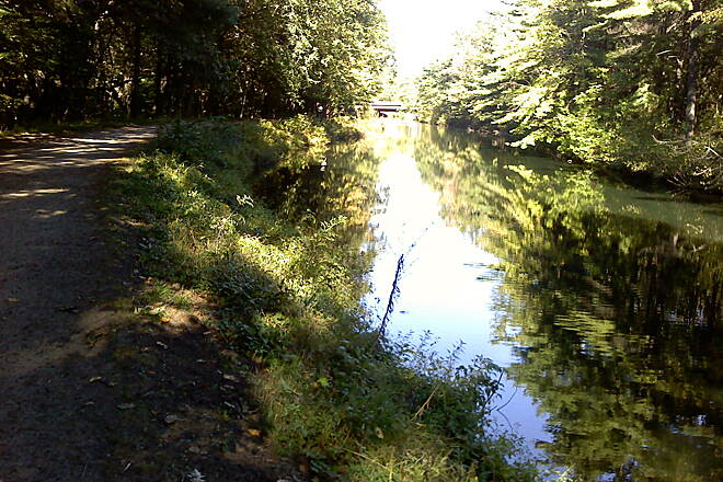 Mine Falls Park Canal - side