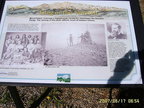 Mineral Belt Trail Historical Sign One of many signs.  However they do not give milage or location.
