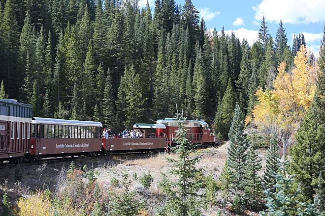 Mineral Belt Trail Leadville, Colorado & Southern Railroad The Leadville, Colorado & Southern Railroad is a scenic excursion train that runs from downtown Leadville into the mountains. Photo by Scott Stark.
