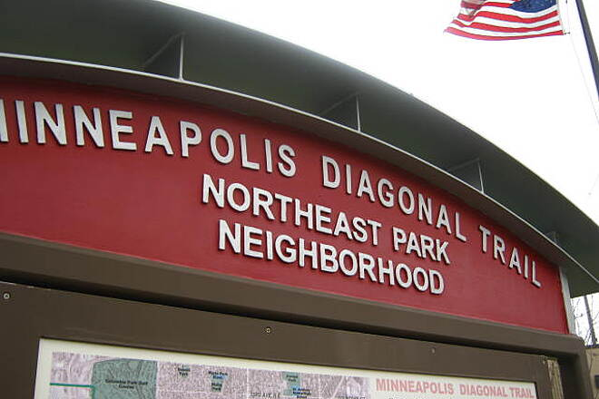 Minneapolis Diagonal Trail Broadway St NE entrance