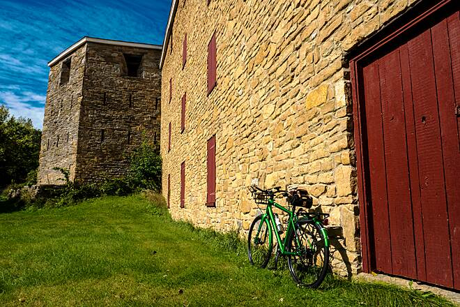 Minnehaha Trail Modern Bike, Ancient Fort The Minnehaha Trail passes by Fort Snelling. I shot many photos in and around the fort before continuing on to the `Falls.