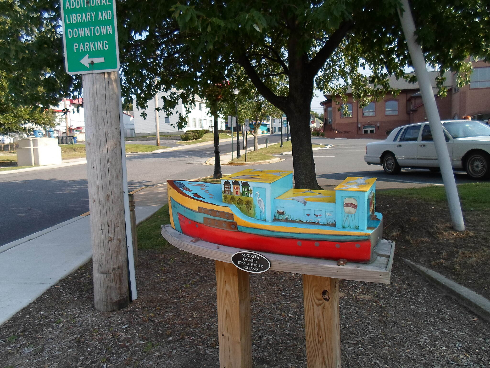Mispillion River Greenway Mispillion River Greenway One of several ornately painted model boats that decorate the greenway in downtown Milford.
