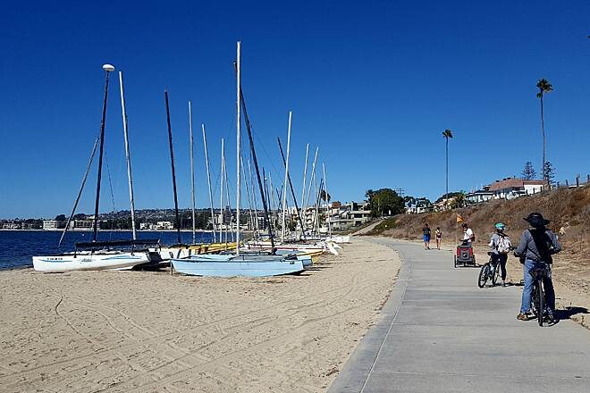 Mission Bay Bike Path Mission Bay San Diego Great path and beautiful views