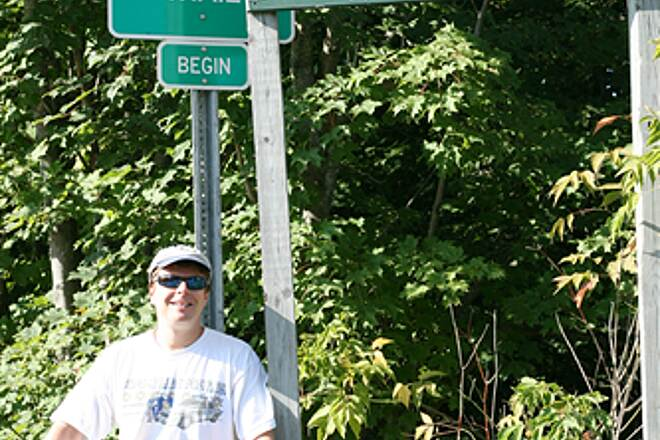 Missisquoi Valley Rail-Trail  The beginning of the trail, in Richford, VT