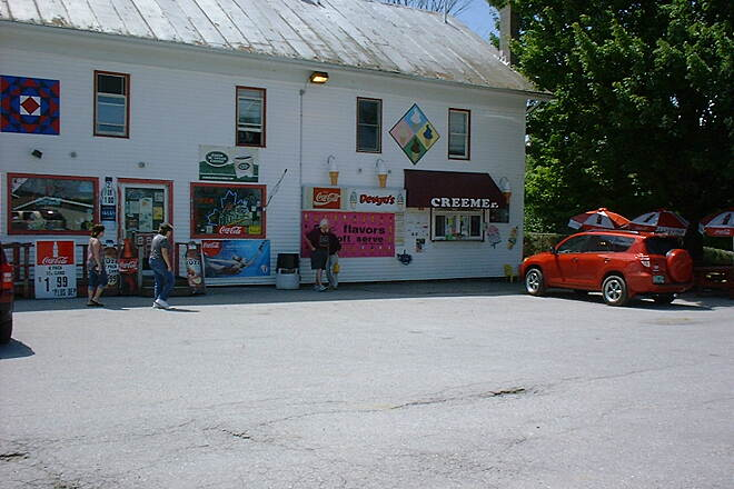 Missisquoi Valley Rail-Trail Devyn's a must stop for creemees on Rt 105 by the parking area at mile marker 9 just east of the bridge