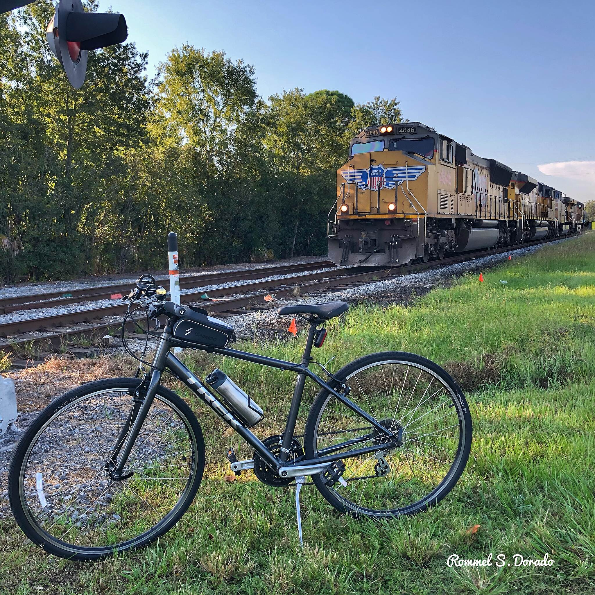 Mississippi River Trail (Louisiana) Bike, train, and bike trail This is at the end point of the trail by the Audubon Park (New Orleans).