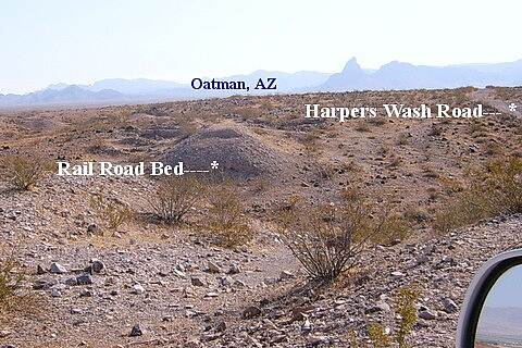 Mohave and Milltown Railroad Trail Mohave Millton Rail Road Alternate Harpers Wash Road