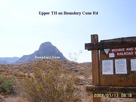Mohave and Milltown Railroad Trail Boundary Cone Trail Head on Boundary Cone Road