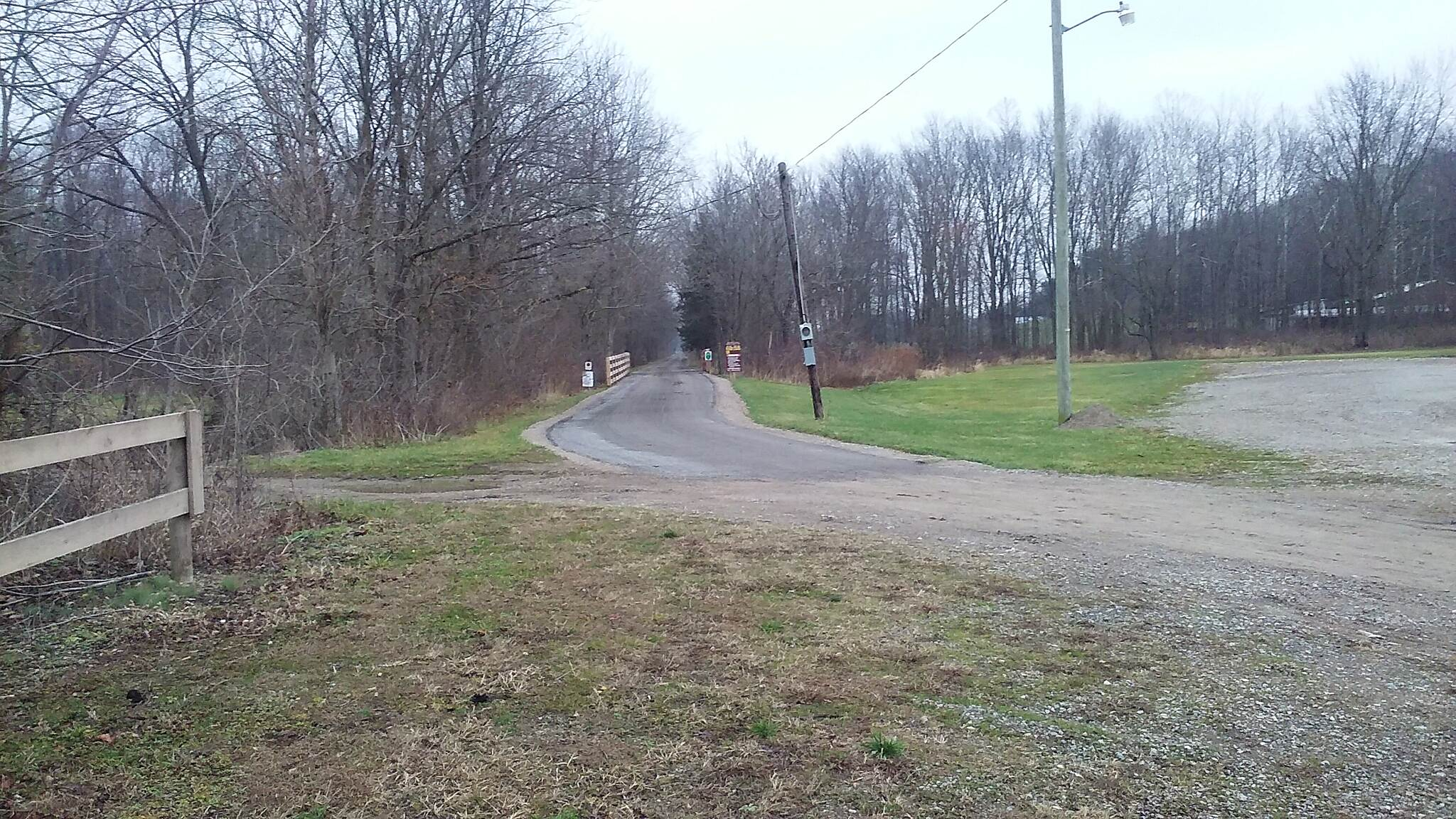 Mohican Valley Trail Northbound December 2015 Southern trailhead in Danville, OH