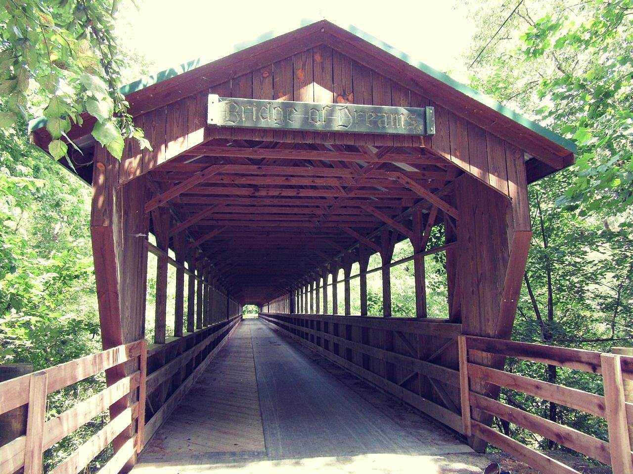 Mohican Valley Trail Bridge of Dreams Beautiful long covered bridge over the Mohican River.   A must see!