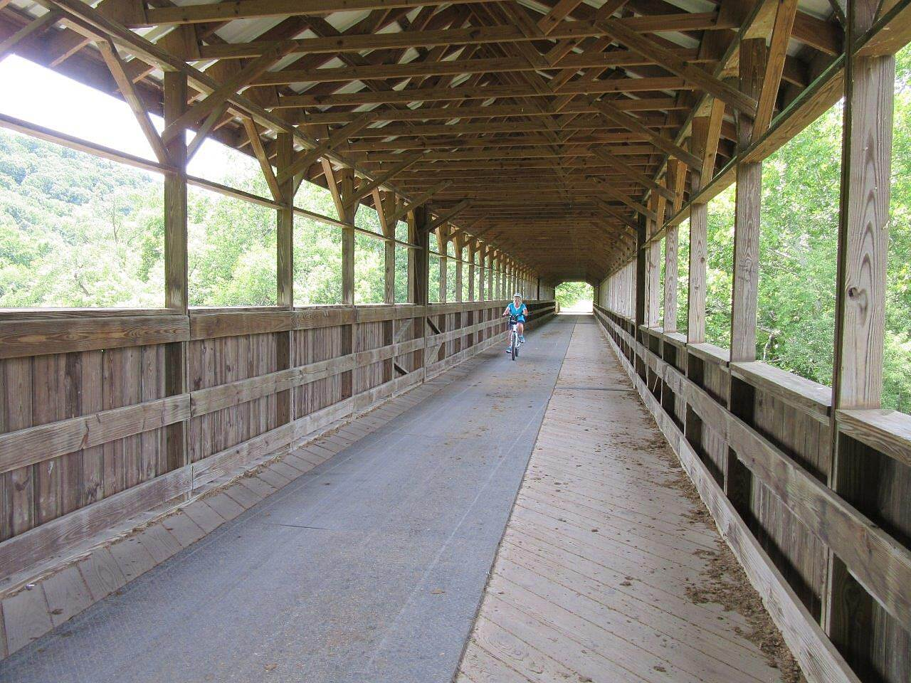 Mohican Valley Trail Bridge of Dreams A gorgeous highlight of this trail!