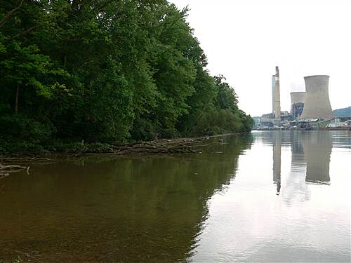 Mon River Trail North fort martin power plant 2 i was standing on an outwashing from a stream to get this pic.