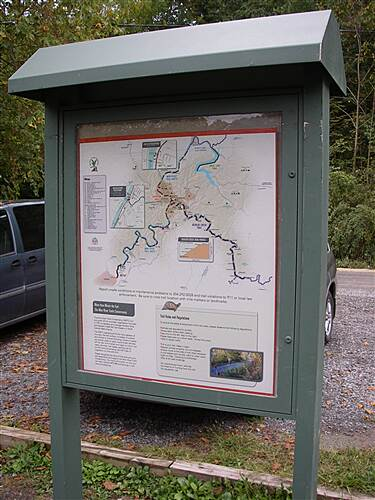Mon River Trail South Mon River - South kiosk kiosk & trail system map on Mon River Trail - south section